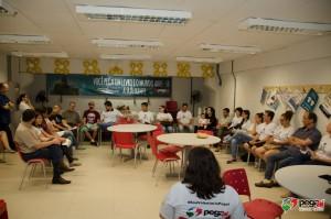 Voluntários, parceiros e apoiadores reunidos pelo Pegaí