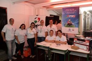 No registro do idealizador Idomar Augusto Cerutti, os voluntários Pegaí que participaram da Acolhida Cescage